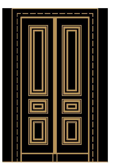 Drzwi Wewnętrzne 1,20 x 2,40 m